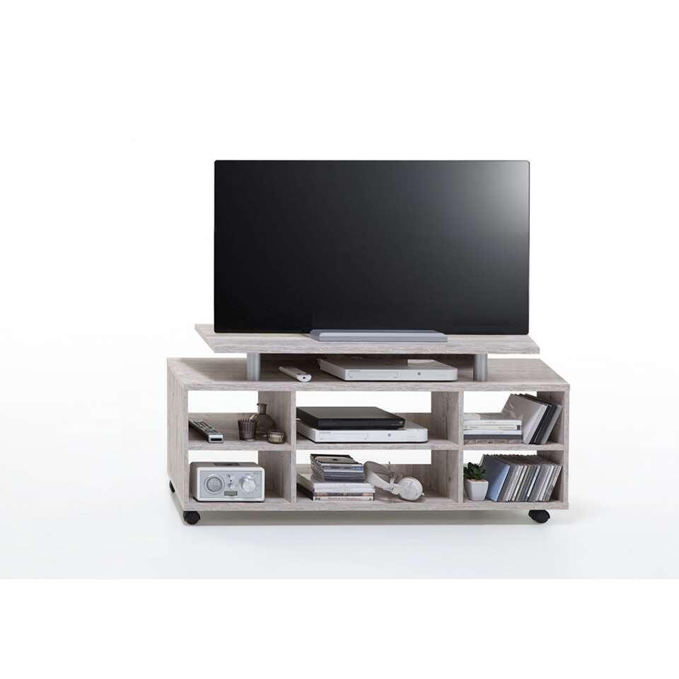Tv-meubel Tilton - grijs eikenkleur - 118x57x50 cm