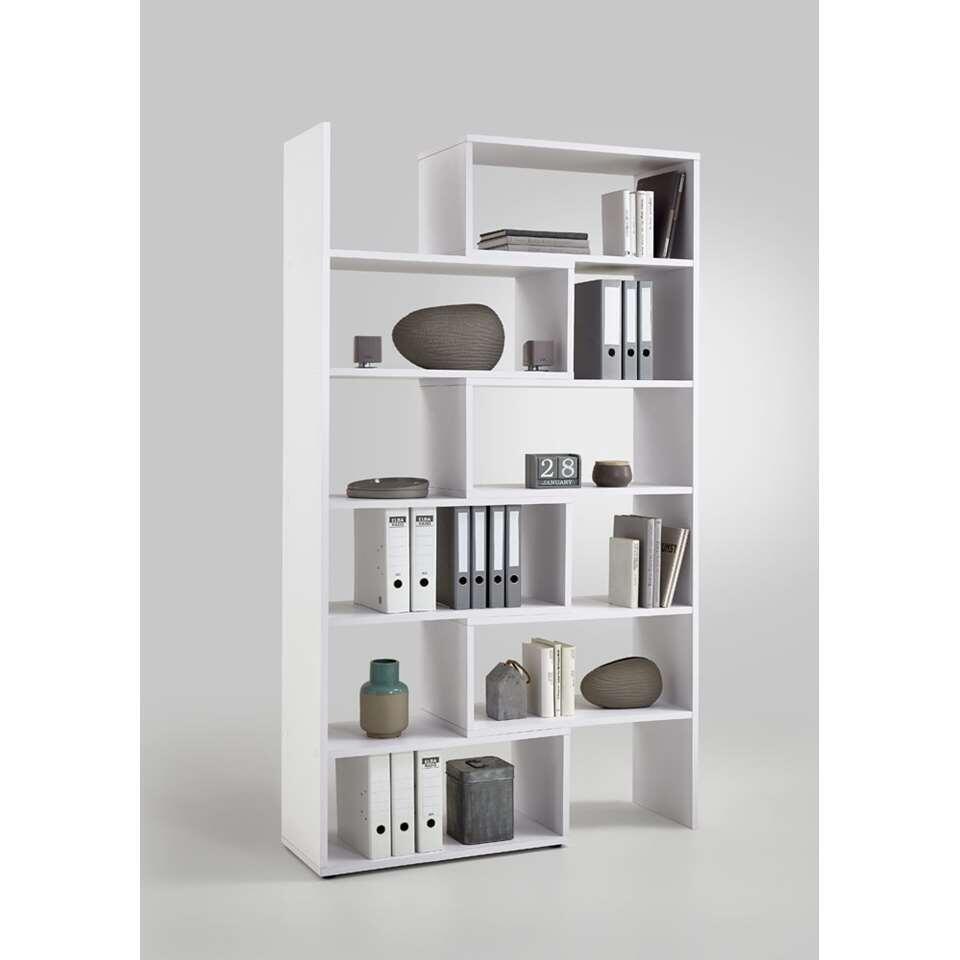Boekenkast Clifton uitschuifbaar - wit - 84x40x221 cm