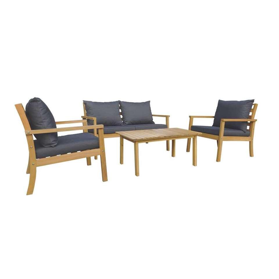 Salon lounge Murcia - gris - 4 pièces