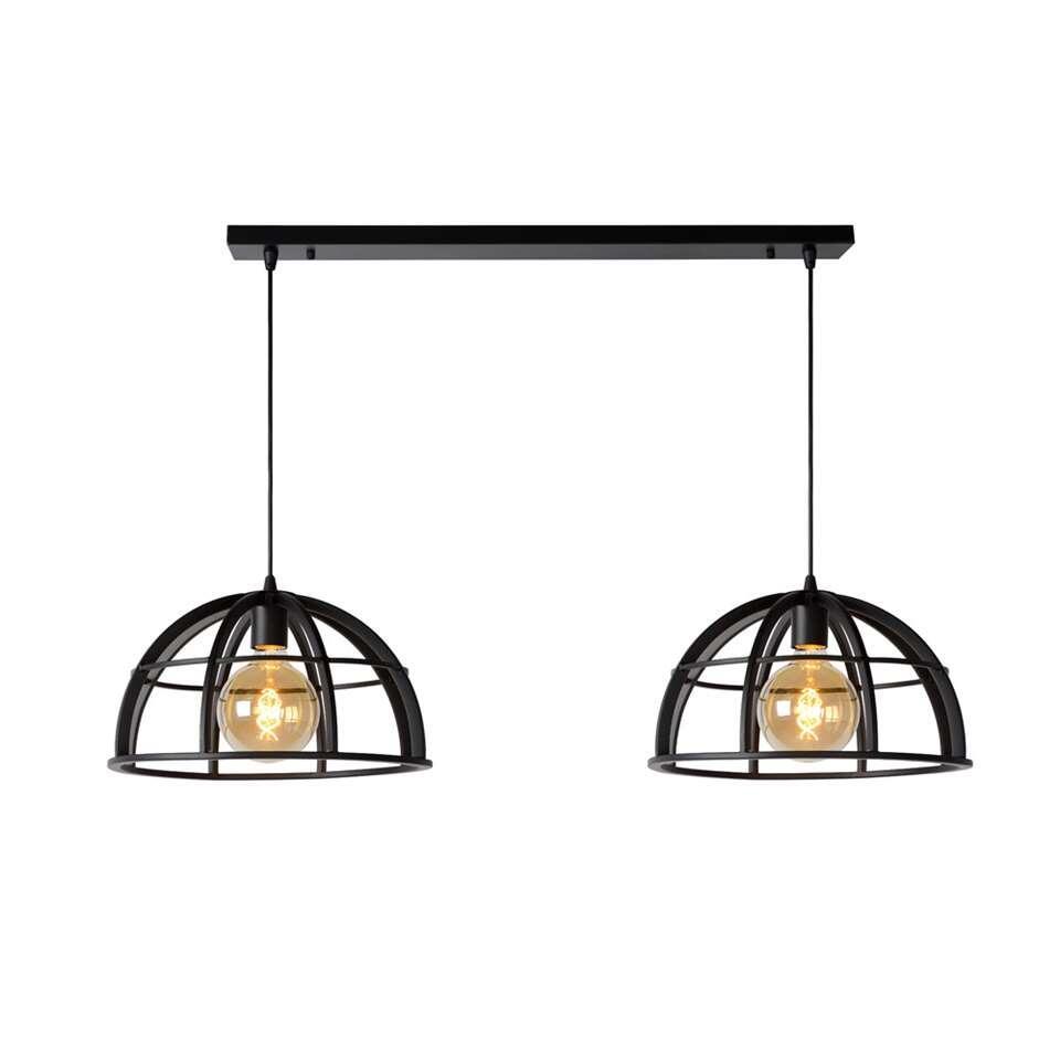 Lucide hanglamp Dikra 2 lampjes - zwart - 40 cm