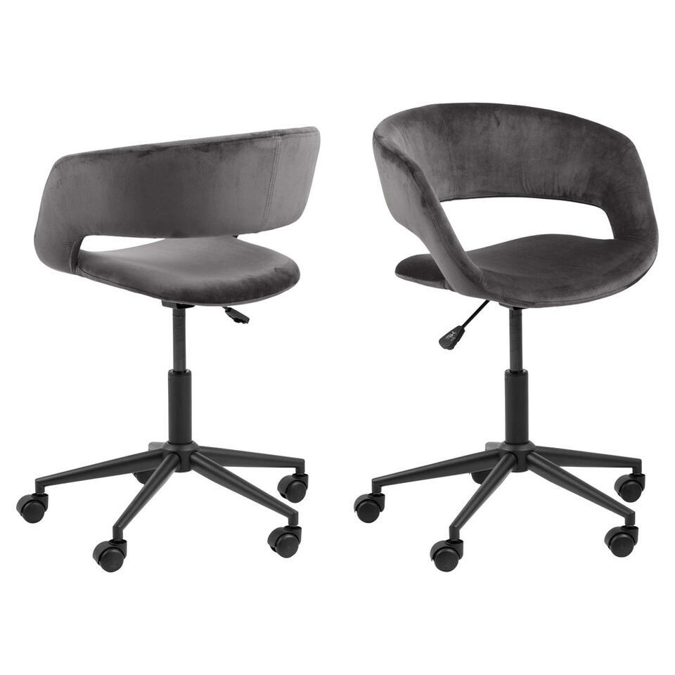 Chaise de bureau Gizem - gris foncé
