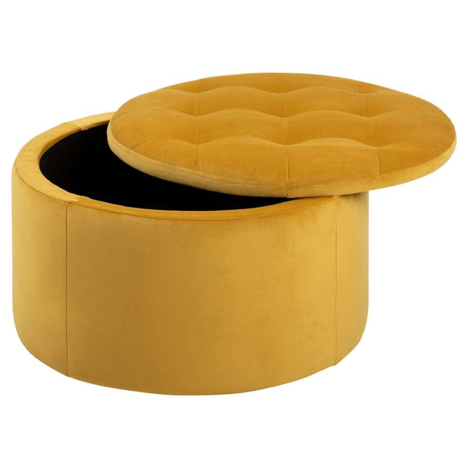 Pouf Debussy - jaune - 35x60 cm