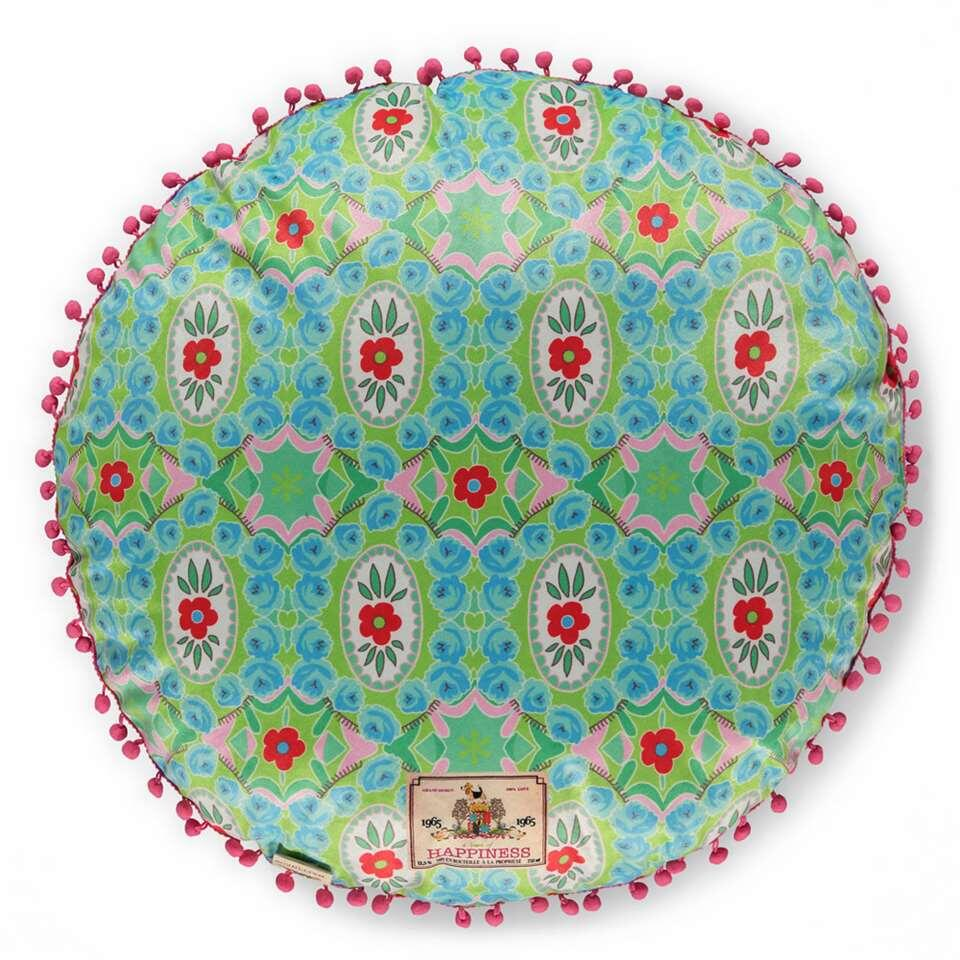 Happiness sierkussen Zabrina - groen - 48x48 cm