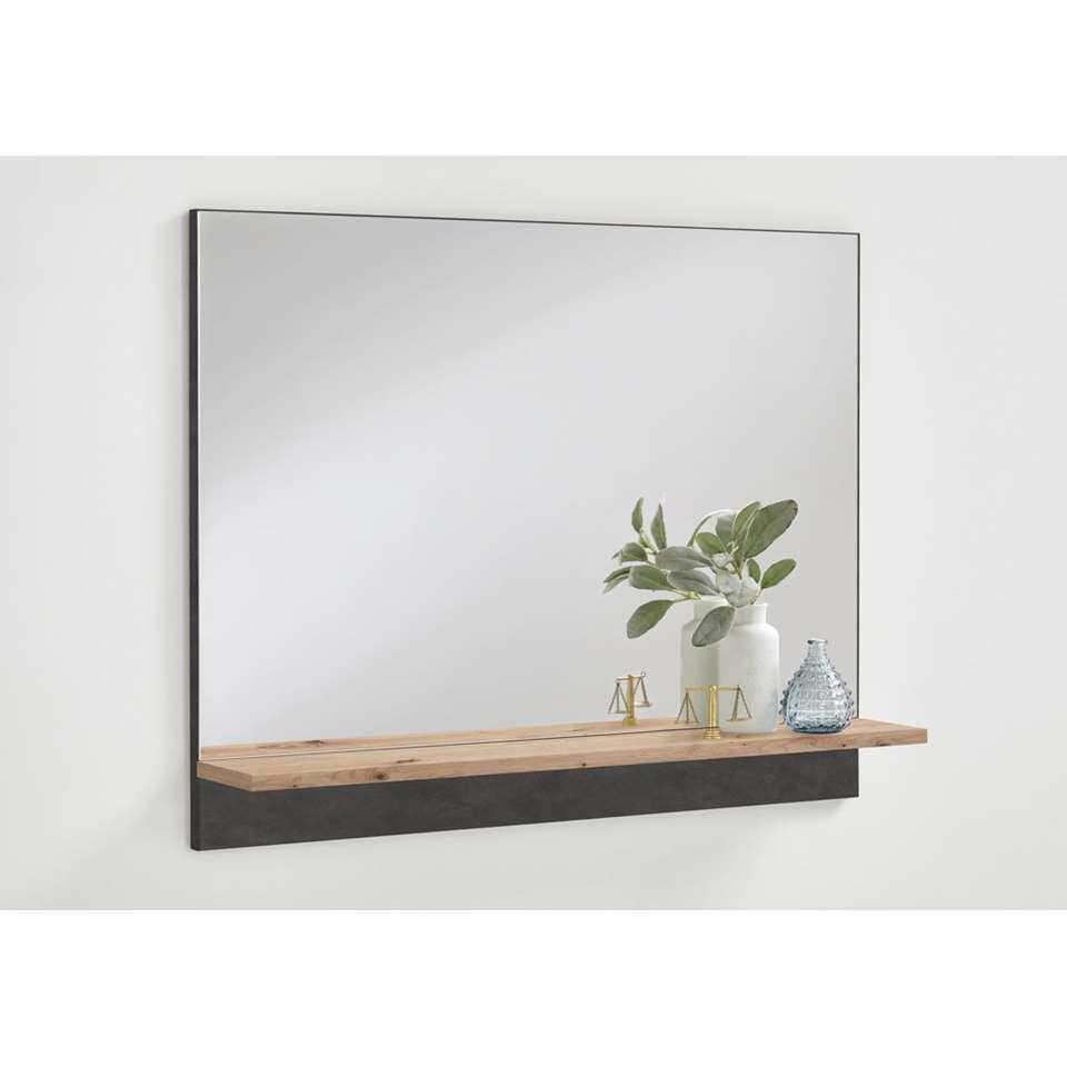 Miroir Bristol - couleur chêne/gris - 62,5x80x14 cm