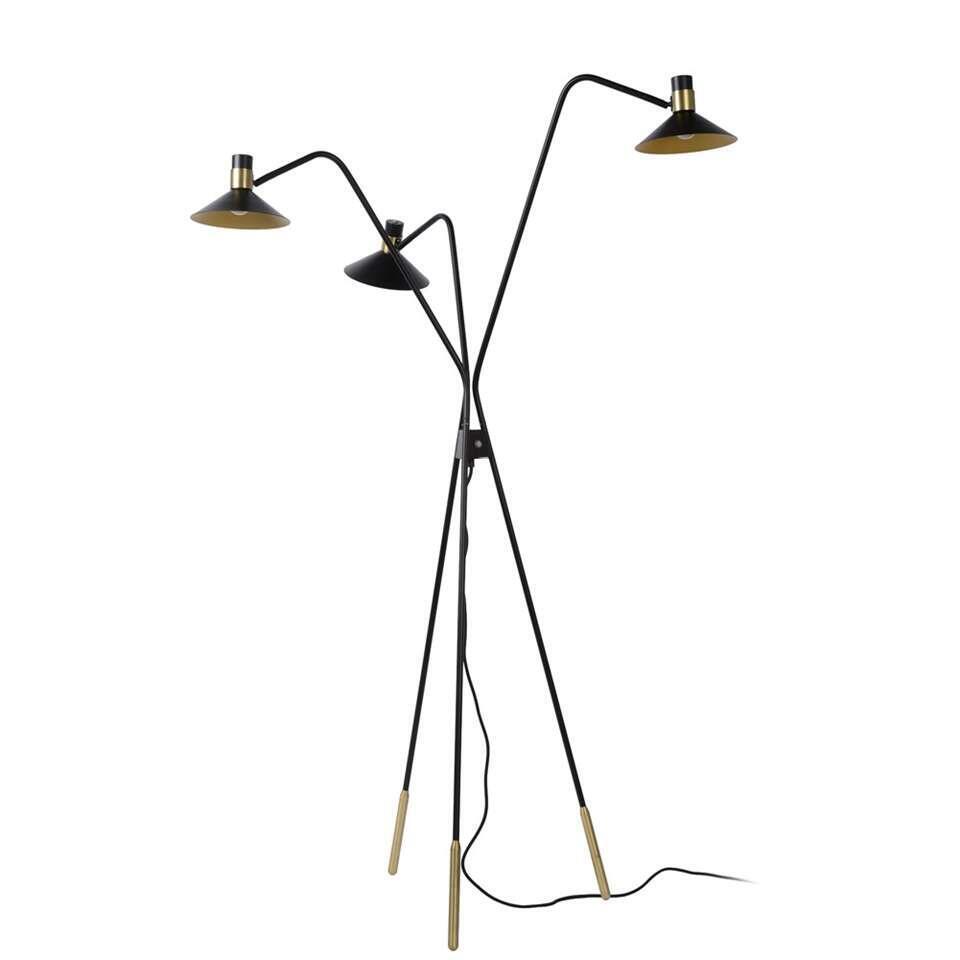 Lucide vloerlamp Pepijn 3-lamps - zwart