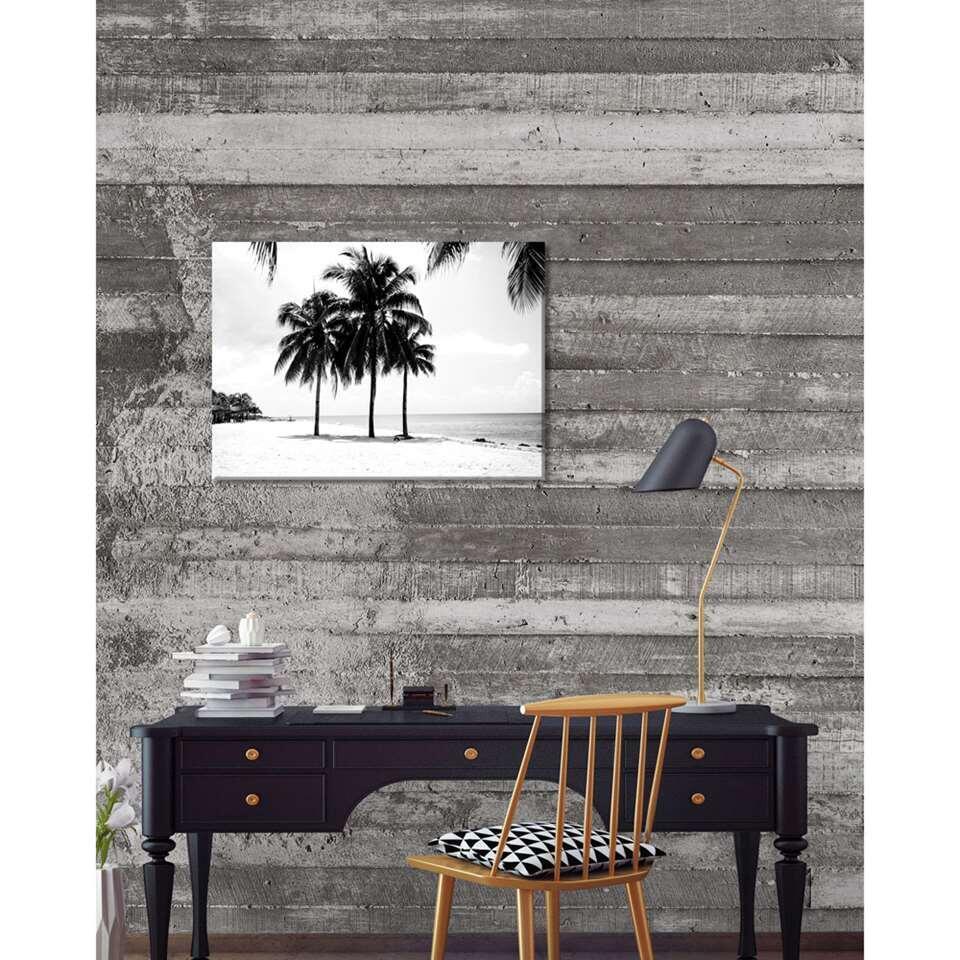 Wohnidee toile Palmiers - noire/blanche - 70x50 cm