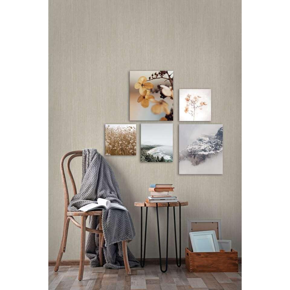 Wohnidee ensemble de 5 toiles Les montagnes et la mer - brun/gris - 60x80 cm
