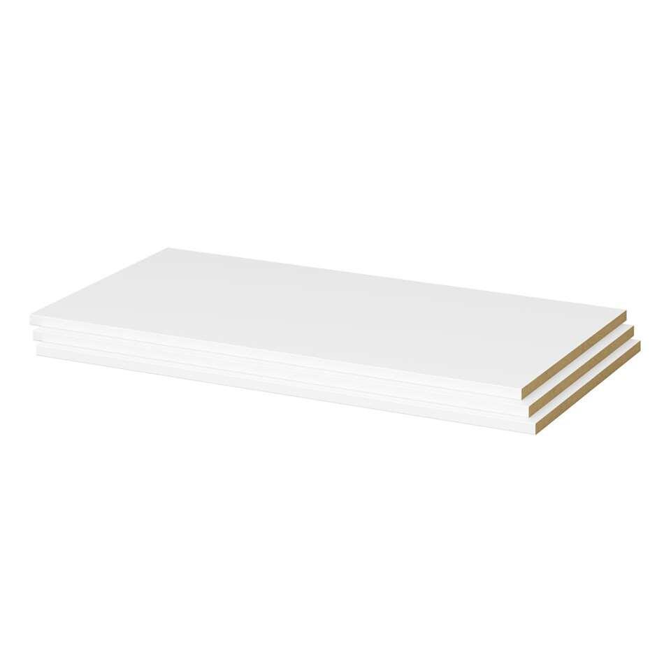 Set legplanken voor kleerkast Gaia (3 stuks) - wit