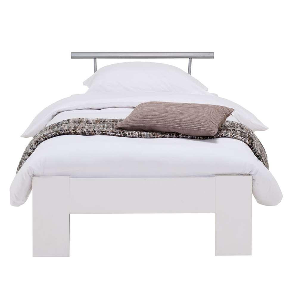 Bed Sydney met beugel - wit - 90x200 cm