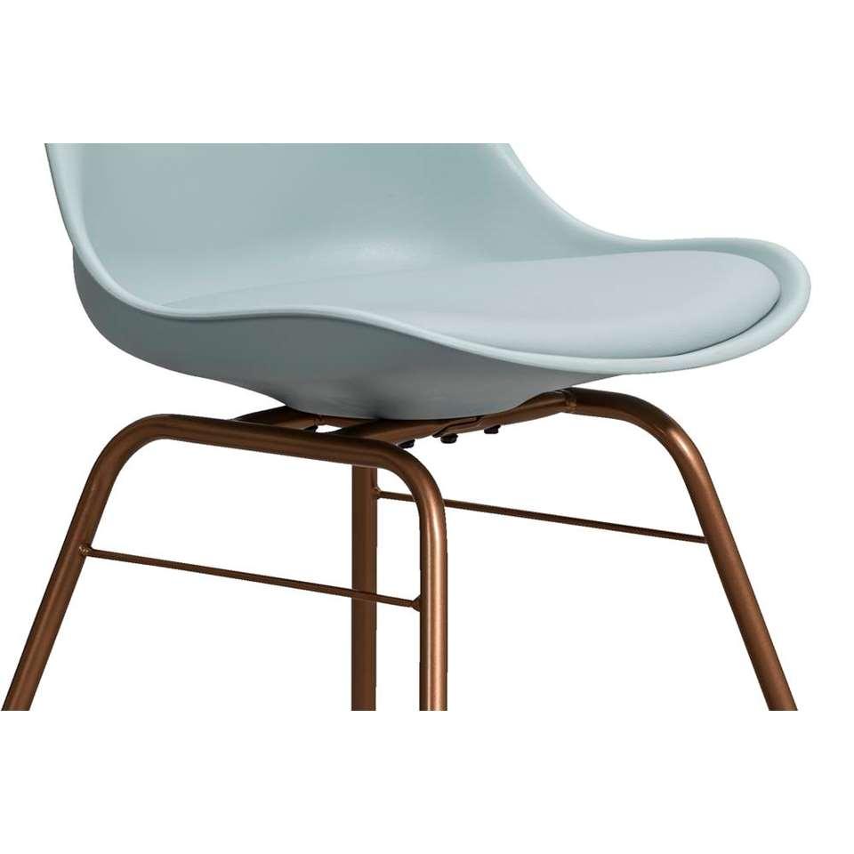 umix chaise de salle manger venice beverly plastique vert clair cuivre. Black Bedroom Furniture Sets. Home Design Ideas