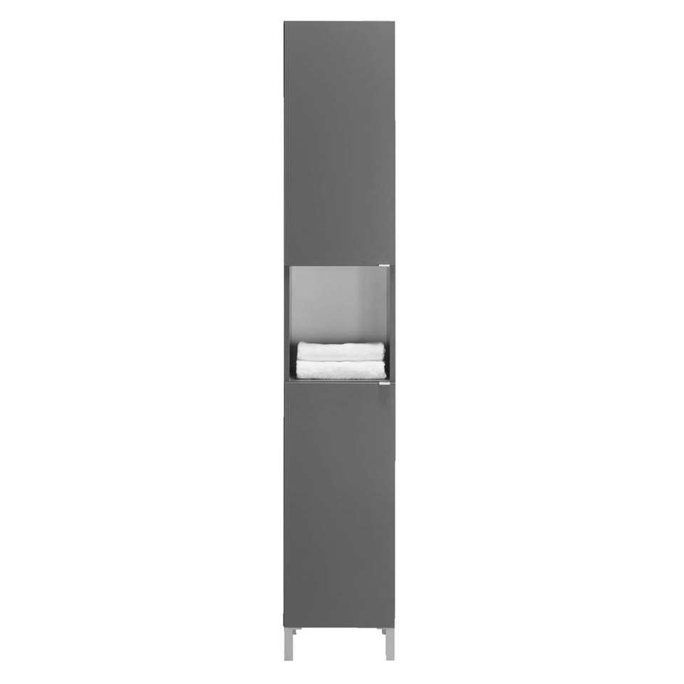 Badkamerkast Milaan 2-deurs - grijs - 182x32x33 cm