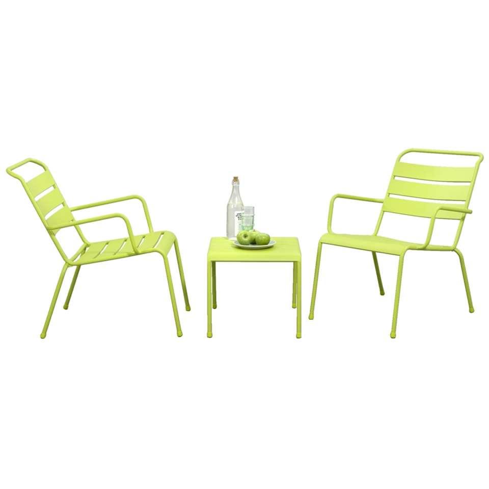 Loungeset Fortaleze - 3-delig - groen - Leen Bakker