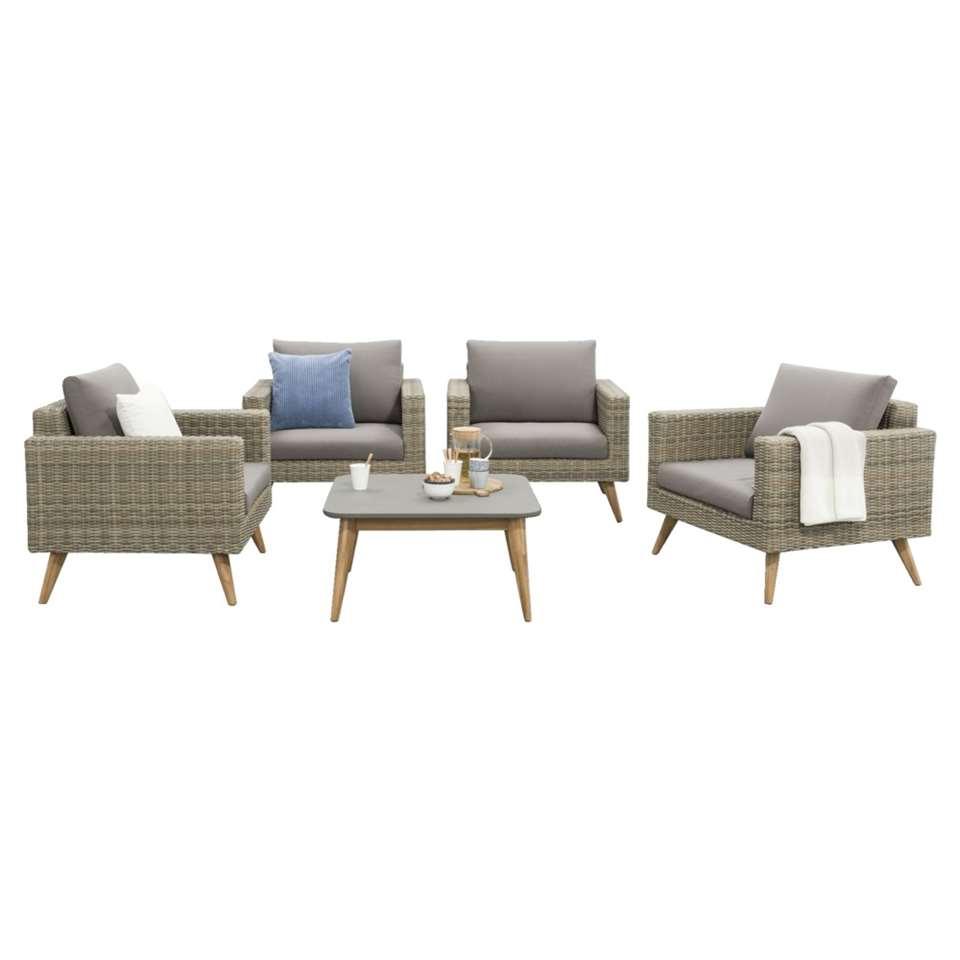 Le Sud salon lounge Castilla - gris - 5 pièces
