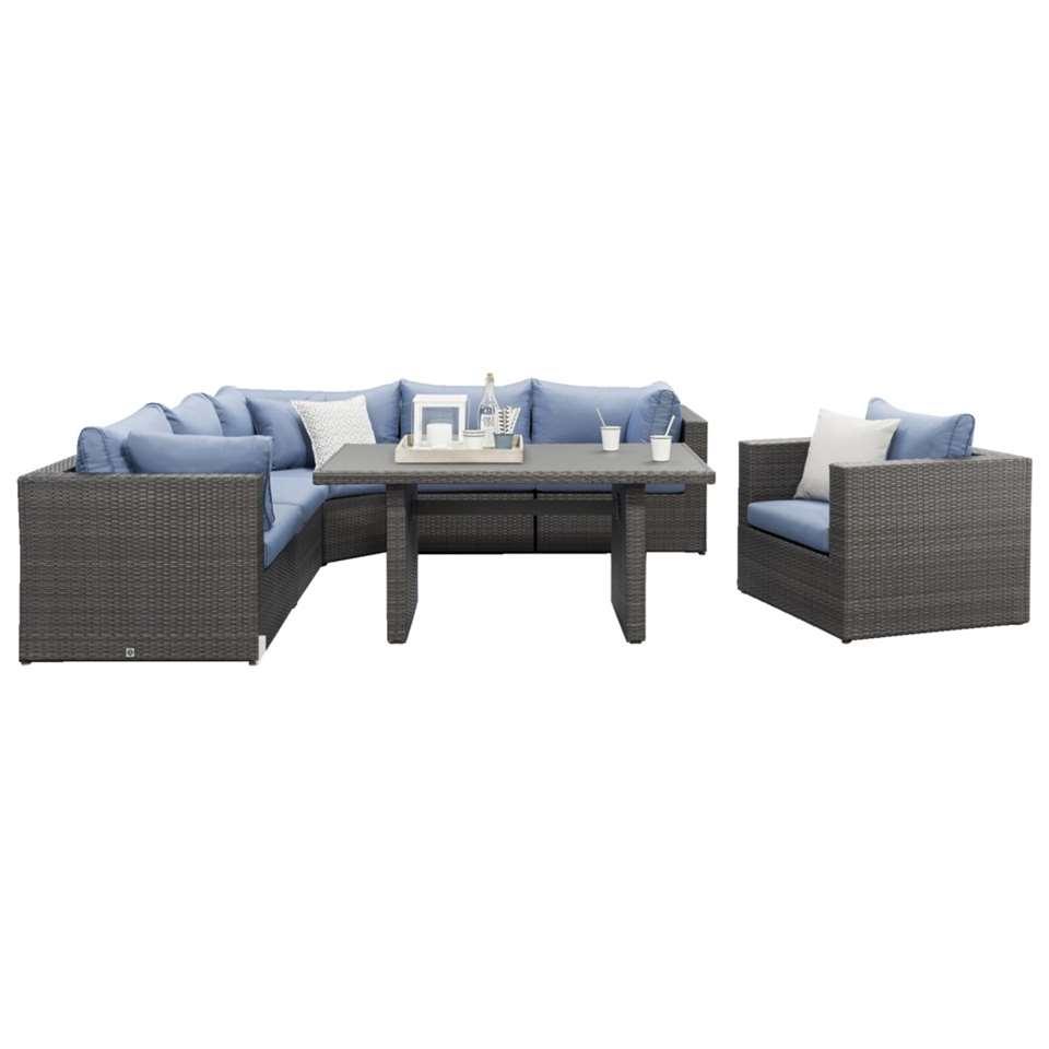 Le Sud loungeset diningset met fauteuil Ancona - 7-delig - Leen Bakker