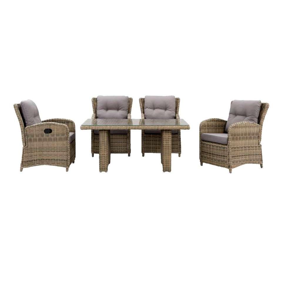 Le Sud loungeset Verona - 5-delig - met rechthoekige tafel - Leen Bakker