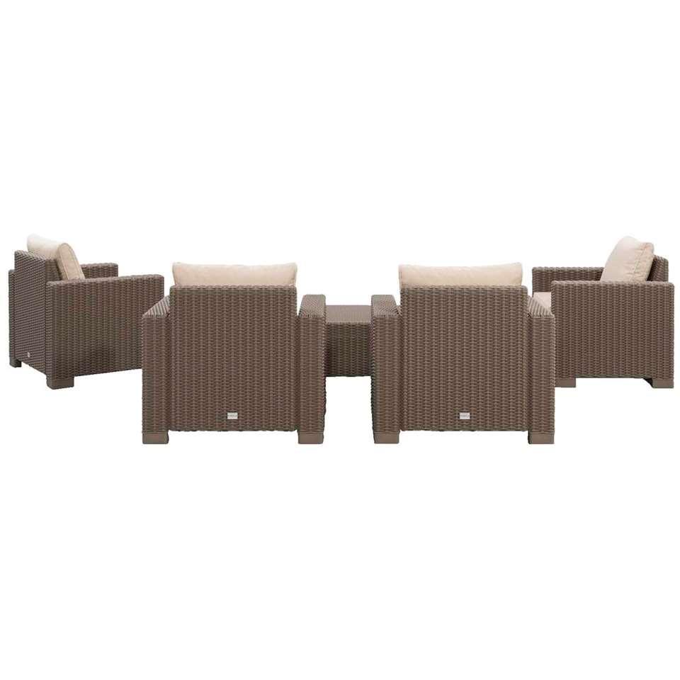 Allibert salon lounge California - 5 pièces - couleur cappuccino