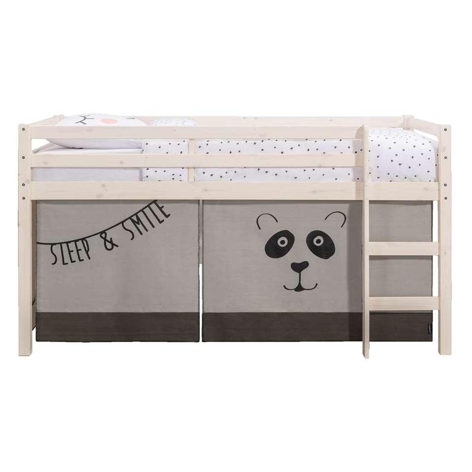 Lit Sureleve Ties Avec Tente De Lit Panda Blanc Patine