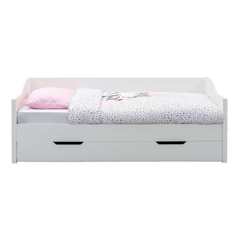 Lit banquette Eliza (tiroir inclus) - blanc - 90x200 cm