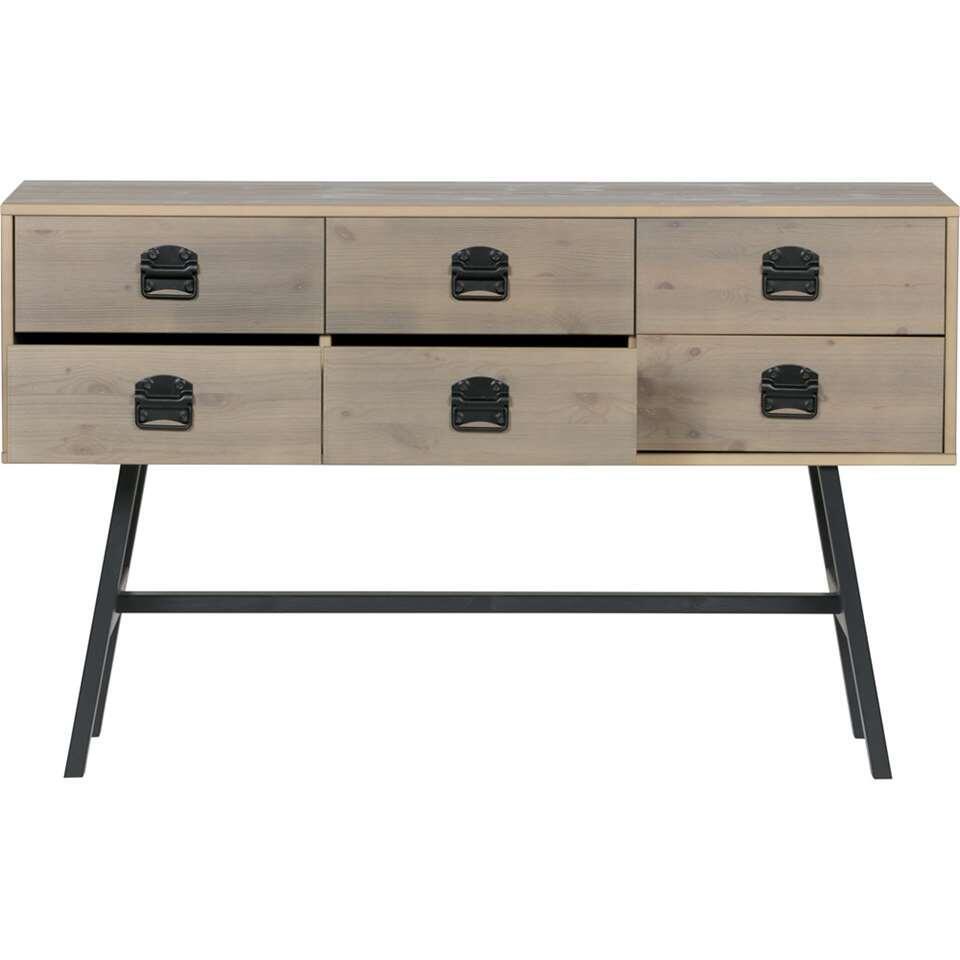 Woood rangement Derby - gris sale - 60x63,5x30 cm