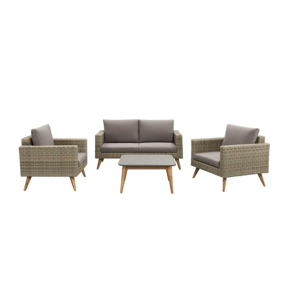 Le Sud salon lounge Castilla - gris - 4 pièces
