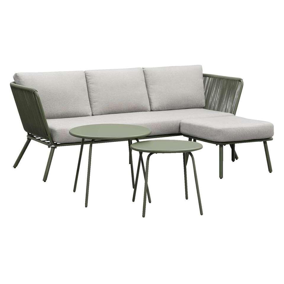 Salon lounge Almeria Vilanova 4 pièces - vert olive