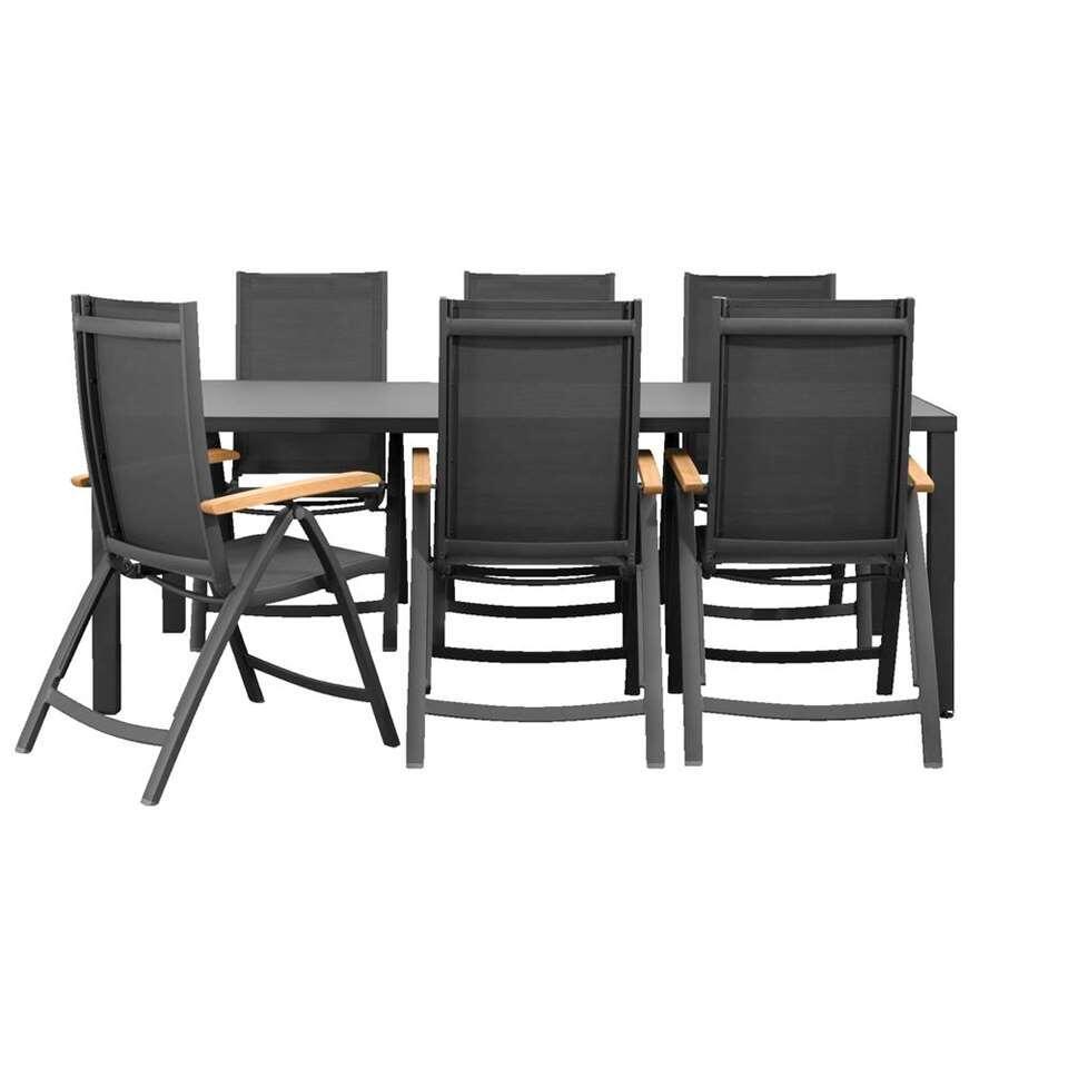 Le Sud salon de jardin Cognac fauteuil réglable Limousin - 7 pièces