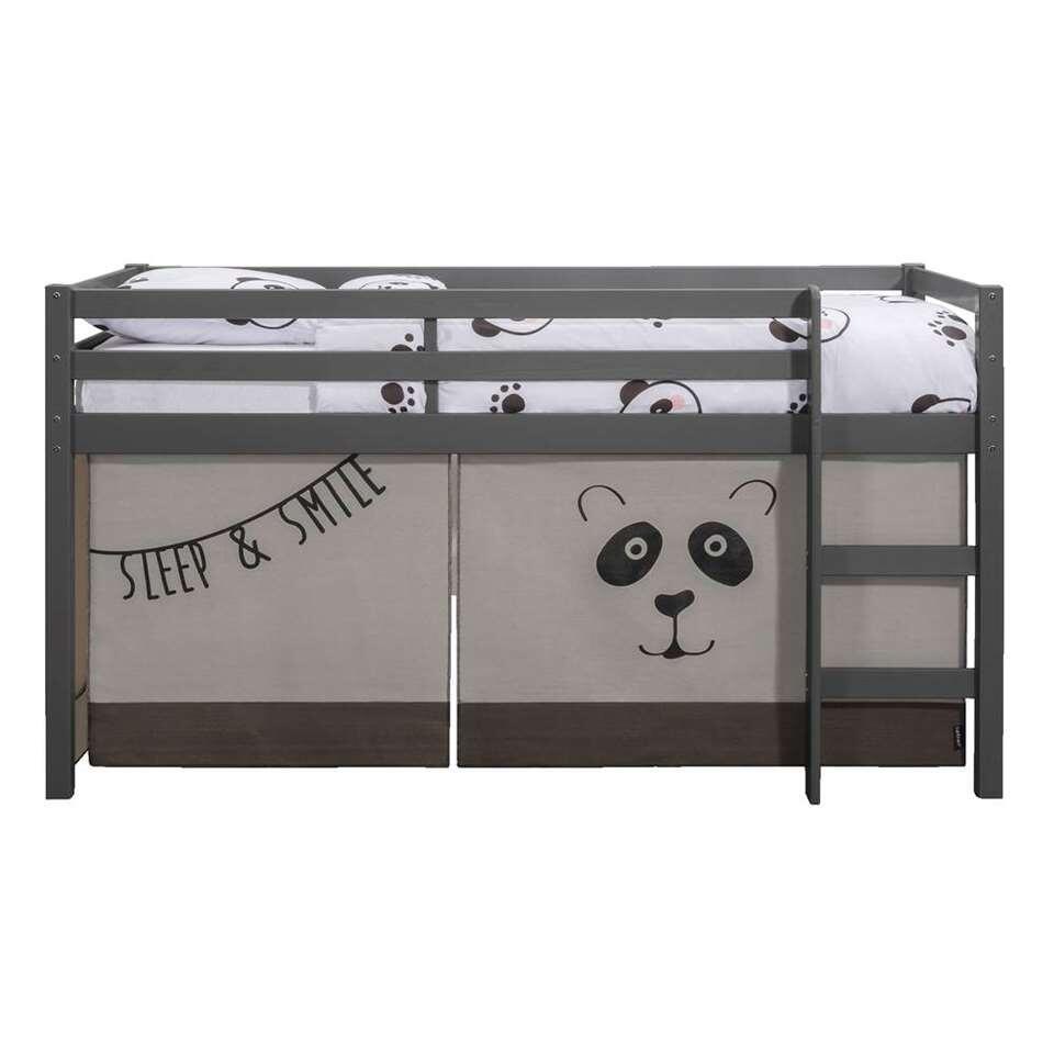Lit surélevé Ties avec tente de lit Panda - anthracite