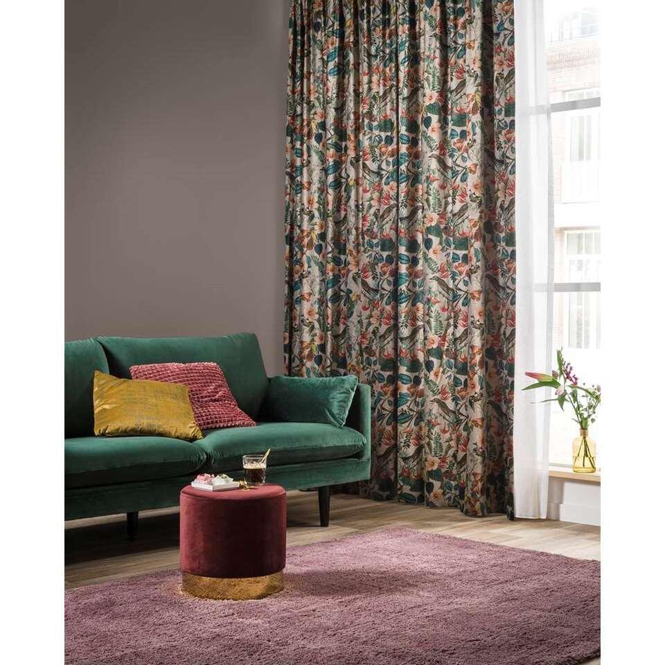 tissu pour rideaux jade multicolore. Black Bedroom Furniture Sets. Home Design Ideas