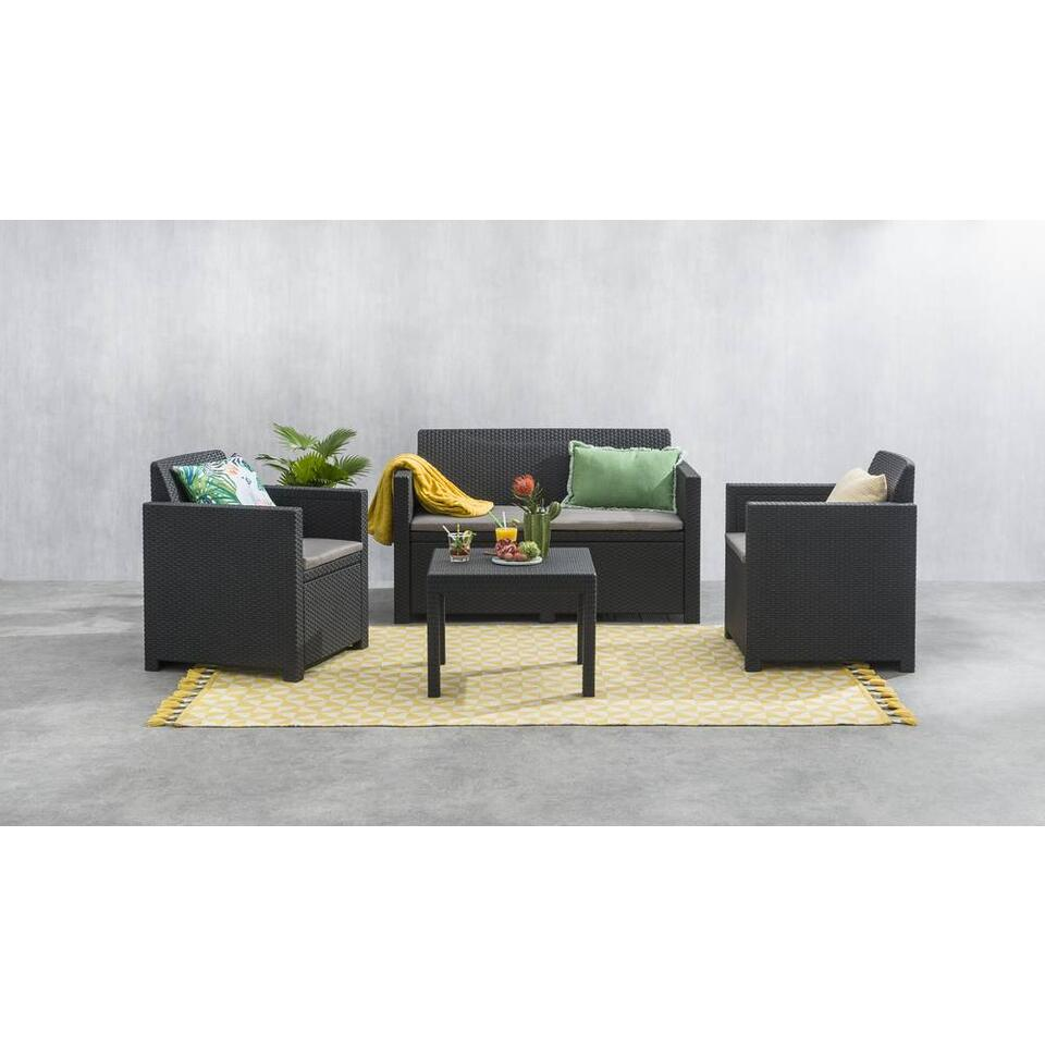 Inclus Gris Piècescoussins Allibert Salon Messina 4 Lounge OkZPuTXi